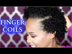 How To Finger Coils on Natural Hair ✿ How to Style Natural Hair Tutorial ✿ Kimmy Boutiki - YouTube