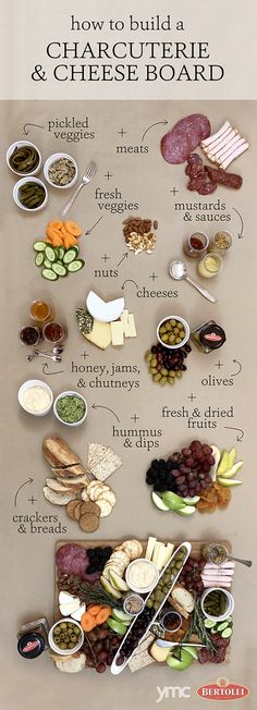 How to Perform Charcuterie Board Magic - - Up your cheese and crackers game by adding olives and more! Charcuterie Recipes, Charcuterie And Cheese Board, Charcuterie Platter, Cheese Boards, Charcuterie Picnic, Charcuterie Wedding, Antipasti Board, Charcuterie Spread, Antipasto