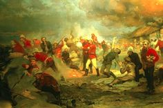 Pt Jenkins appears in the bottom left hand side of this picture painted by Lady Elizabeth Butler, titled The Defence of Rorke's Drift Zulu, Military Art, Military History, Military Diorama, Lady Elizabeth, Age Of Empires, Female Soldier, History Books, Family History