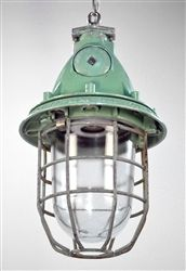 Industrial Austrian Ceiling Pendant c1930 TWO AVAILABLE