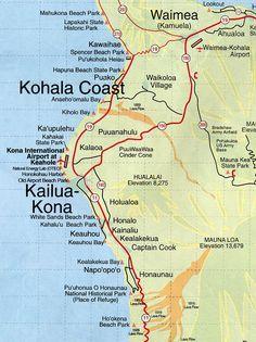 Kona Hawaii Map | root maps map of kona coast hawaii my son just got married there we had one heck of a wedding so bee-u-ti ful