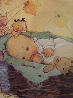 Mabel Lucie Attwell's vintage Children Girlfriends &Baby Bunting~..............lb xxx.