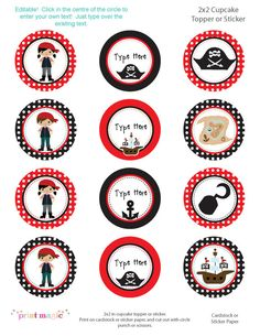 really cute pirate printables--not free