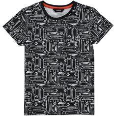 George UK Boys Skateboard Print T-Shirt