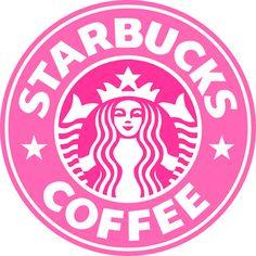 Pink Starbucks Logo!!!!! perfect!!!!!