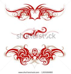 Tribal tattoo - stock vector