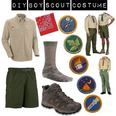DIY Boy Scout Halloween Costume