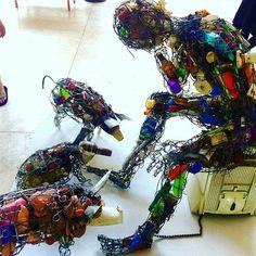 Recycled art at National Art Gallery Harare, Zimbabwe @joyartadventures