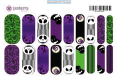 Nightmare Before Christmas Jamberry Nails Contact me for more info! leana.jamberrynails.net