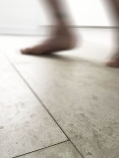 Concrete tile flooring features in our latest home design project - functional, stylish and perfect for bare feet...