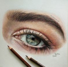 Realistic pencil portrait mastery Discover the secrets of drawing realistic p. Pencil Art Drawings, Art Drawings Sketches, Realistic Drawings, Colores Faber Castell, Art Visage, Eye Sketch, Arte Sketchbook, Color Pencil Art, Colored Pencil Artwork