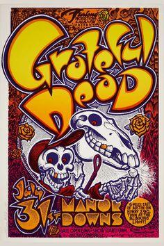 Vintage Grateful Dead concert poster. - Hippie, Woodstock, classic rock.