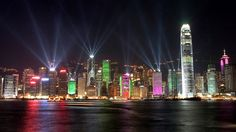 See the famous Hong Kong skyline lit up at night and enjoy the free show! Taken from Bemused Backpacker's 5 free things to do in Hong Kong. Beijing, Shanghai, Hong Kong, World Cities, Best Cities, Star Ferry, Kempinski Hotel, Victoria Harbour, Free Things To Do