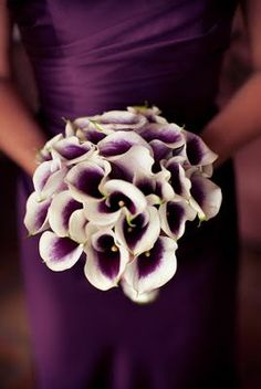 If I have a fall wedding I would want this to be the color of my bridesmaids dresses - Plum