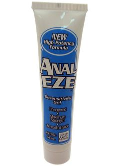 Anal Eze Tube Bulk - Ease yourself into anal sex with this desensitizing lubricant. Since it makes the sensitive area around your anus less receptive to pain, you`ll feel nothing but pleasure as you experiment with anal sex play. If you`ve always been hesitant to open your back door, this lube will give you the freedom to be as adventurous as you`d like!