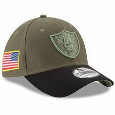 4c5d1c79ab2 Oakland Raiders New Era 2017 Salute To Service 39THIRTY Flex Hat – Olive