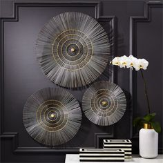 Metal Starburst Wall D Cor Set Of 3 By Tozai Home