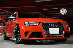 Audi RS4 with HRE S101 in Satin Black