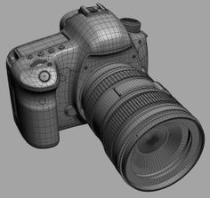 Canon EOS Mark III Kit Model available on Turbo Squid, the world's leading provider of digital models for visualization, films, television, and games. Maya Modeling, Modeling Tips, Modeling Techniques, Cinema 4d Tutorial, 3d Tutorial, 3ds Max, Low Poly, Zbrush, Polygon Modeling