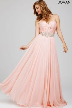 Chiffon Strapless Dress 22650 - Evening Dresses