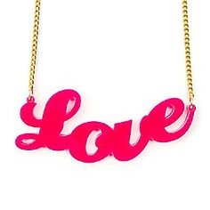 Neon Love Nameplate Pendant Necklace #valentinesday #Claire's