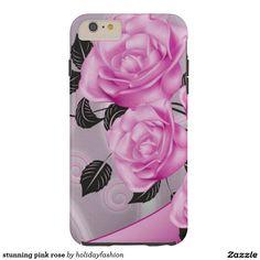 stunning pink rose tough iPhone 6 plus case