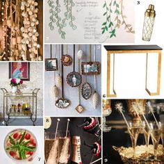 Surrounding the signature cocktail? Rustic and glam accents and a fully-stocked bar. Check out the moodboard.