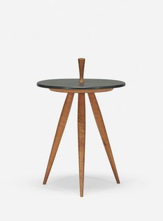 Phillip Lloyd Powell; Walnut and Slate Occasional Table, c1960.