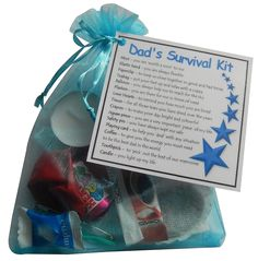 Dad's Survival Kit Gift (Ideal dad gift for dad. Ideal Father gift for Father's Day. Great novelty gift for birthday or Christmas) - dad gift, dad gifts, gift for dad, dad present, present for dad: Amazon.co.uk: Kitchen & Home