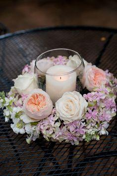 Pretty Candle U0026 Floral Centerpieces