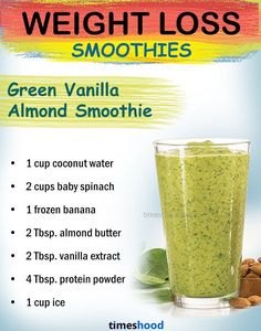 what to drink to lose weight? Green Vanilla Almond Smoothie. Weight loss recipes. best green smoothies for weight loss. Weight Loss Meals, Weight Loss Drinks, Weight Loss Smoothies, Healthy Weight Loss, Drinks To Lose Weight, Best Weight Loss Cleanse, Juice Cleanse Recipes For Weight Loss, Weight Loss Juice, Weight Loss Detox
