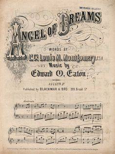 Angel of Dreams ~ sheet music