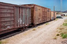 Example of weathered freight cars - Pelle Soeeborg