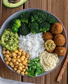 Five Healthy Dinner Bowl ideas 🥣🥗✨ *Swipe to see all! VEGAN, nutritious and super tasty🤩 💚 4 or 5 which is your favourite? ⠀ ⠀ ⠀ FALAFEL BOWL Falafel bowl filled with basmati rice, chickpeas, hummus, broccoli 🥦 and guacamole 🥑😍 For me% New Recipes, Vegan Recipes, Whole30 Recipes, Vegan Food, Dinner Recipes, Crockpot Recipes, Chicken Recipes, Dinner Ideas, Protein Recipes