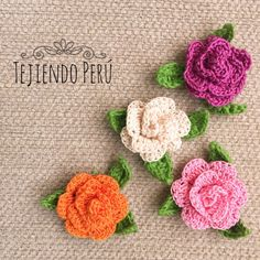 En este mini video tutorial aprenderán a tejer estas rosas enrolladas en 3D a crochet! This video includes English subtitles: crochet 3D rollos roses.