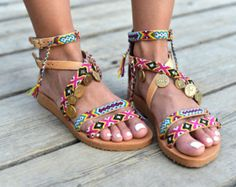 Sandals Isky by MabuByMariaBk on Etsy