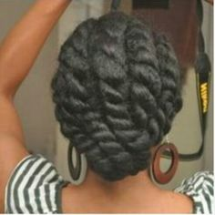 29 Awesome New Ways To Style Your Natural Hair - Chunky flat twist! You are in the right place about pastel hair Here we offer you the most beautifu - Cabelo Natural 4b, Pelo Natural, Natural Hair Tips, Natural Hair Journey, Natural Hair Styles, Scene Hair, Twisted Hair, Pelo Afro, Sisterlocks