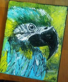 In the Rainforest is an acrylics on wrapped canvas piece created by me. -Semi glittered top coat for shiny finish. -Frame hook in back for easy and quick display. Glitter Top, Bird Art, Wrapped Canvas, Canvas Art, Birds, Hand Painted, Display, The Originals, Acrylics