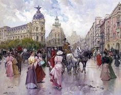 Juan Soler Spanish Impressionist New Realism painter Tutt'Art@ () Spanish Painters, Spanish Artists, Illustrations Vintage, His Travel, France, People Art, Prado, Optical Illusions, Italy Travel