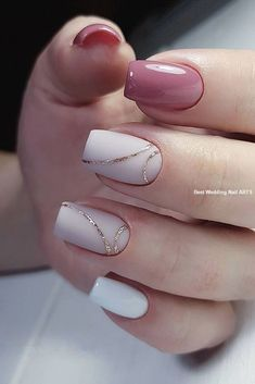 35 Simple Ideas for Wedding Nails Design - How to use nail polish? Nail polish on your friend's nails l Simple Acrylic Nails, Acrylic Nail Designs, Simple Nails, Simple Elegant Nails, Elegant Nail Art, Stylish Nails, Trendy Nails, Cute Nails, Perfect Nails