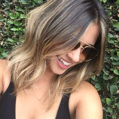 cut and color by me #Balayage #Babylights #bronde #cut #lob