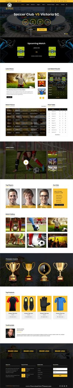 RS Sports is a clean and modern design 5in1 responsive #bootstrap HTML #template for #Soccer and #sports club website to download & live preview click on image or Visit