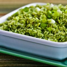 Recipe for Ginger-Cilantro Rice with Green Onion and Sesame; love this for an easy but memorable side dish! [from Kalyn's Kitchen] #LowGlycemicRecipe