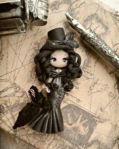 hermosa muñeca con pasta fimo #muñecas #fimo #decoración