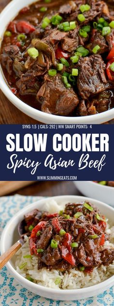 Slow Cooked Spicy Asian Beef – skip ordering take out with this amazingly tasty set it and forget it slow cooker meal. Slow Cooked Spicy Asian Beef – skip ordering take out with this amazingly tasty set it and forget it slow cooker meal. Healthy Slow Cooker, Crock Pot Slow Cooker, Crock Pot Cooking, Cooking Recipes, Crock Pot Beef, Slow Cook Beef Recipes, Crockpot Recipes Asian, Crockpot Flank Steak Recipes, Chinese Slow Cooker Recipes