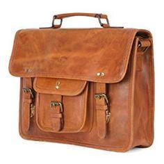 4ef774c486 handmade genuine Leather satchel messenger Laptop Bag Handle Shoulder Strap  Briefcase men women Leather Laptop Bag