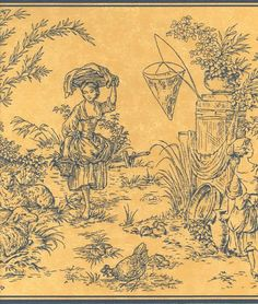 Waverly Country Toile Wallpaper Border 5500294   eBay