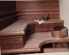 Kivan malliset ja väriset lauteet. Sauna Ideas, Bathroom, Washroom, Full Bath, Bath, Bathrooms