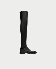 Image 2 of FLAT OVER-THE-KNEE BOOTS WITH TOE DETAIL from Zara