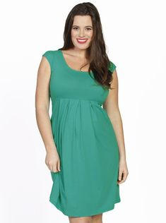 Lucy Cap Sleeve Little Cotton Dress - Jade Green - Angel Maternity - Maternity  clothes - d72bfb3ee